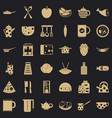 restaurant icons set simple style vector image vector image