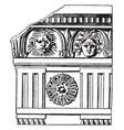 roman-doric frieze triglyphs in the doric order vector image vector image