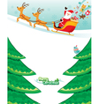 Santa Claus Riding On Sleigh vector image