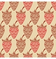 seamless background with strawberry vector image vector image