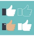 set icon hands thumbs up design vector image vector image