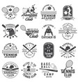 set of baseball and tennis club badge vector image vector image