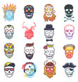 skull mexican dead head and crossbones and vector image vector image