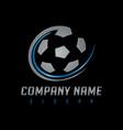 soccer silver logo vector image vector image