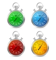 Stopwatch set vector image