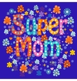 Super mom vector image vector image