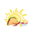 Taco And Nachos Mexican Culture Symbol vector image vector image