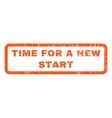 Time For a New Start Rubber Stamp vector image vector image