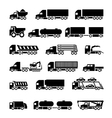 Trucks trailers and vehicles icons set vector image vector image
