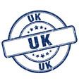 uk blue grunge round vintage rubber stamp vector image vector image