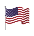 United States flag with waving wind vector image