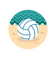 Volleyball icon Summer Vacation vector image