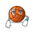 waiting volleyball mascot cartoon style vector image