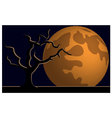 Wallpaper halloween moon tree vector image vector image