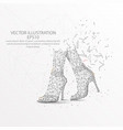 woman foots with shoes low poly wire frame on vector image vector image
