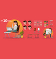 woman office professions stylized characters set vector image
