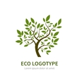 Stylized simple tree logo vector image