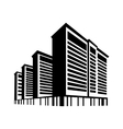 logo silhouette of skyscrapers vector image