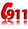 911 emergency symbol vector image vector image