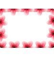 a cherry blossom frame vector image