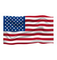 american flag icon happy 4 th july and vector image vector image