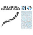 annelid worm icon with 1300 medical business icons vector image