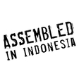 Assembled in Indonesia rubber stamp vector image vector image