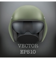 Background of Military flight helicopter helmet vector image vector image