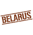 belarus brown square stamp vector image vector image