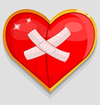 big red wounded heart vector image vector image