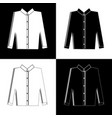 black and white silhouettes of mens shirts vector image