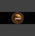 black friday golden sale banner design vector image vector image