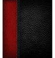 black leather background with red leather strip