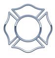 blank fire department logo base vector image vector image