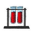 blood sample in test tube icon image vector image vector image