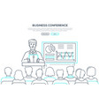 business conference - modern line design style web vector image