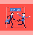 businessmen at finish line vector image vector image