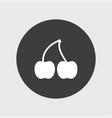 cherry icon simple vector image vector image