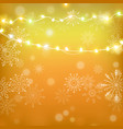 christmas and happy new year gold vector image vector image