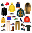clothes and accessories fashion big icon set men vector image