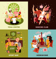 club party concept icons set vector image vector image