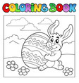 coloring book with easter theme 1 vector image vector image