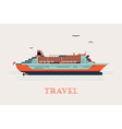 Cruise Liner Ship Icon vector image vector image