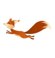 cute cartoon squirrel sweet friendly running vector image vector image