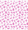 cute pink party event birthday seamless pattern vector image vector image