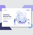 database backup plan concept vector image vector image