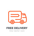 delivery icon linear style vector image