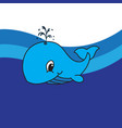 dolphin drawing icon vector image vector image