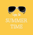 enjoy summer time text with sunglasses vector image vector image