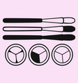 eye shadow brush for makeup vector image vector image